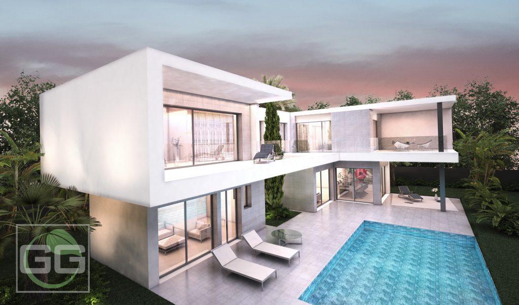 eco gg homes aura espaciosa grande terrazas porches salones