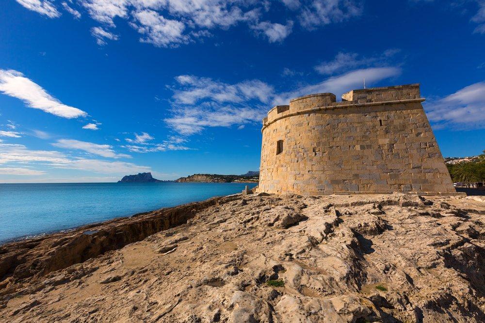 castillo moraira defensa de piratas vivir en moraira idea genial